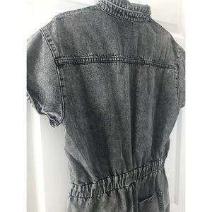 Signature8 Pants & Jumpsuits - NWT Dark Grey Acid Wash Denim Romper